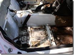 24 Carpet gone - passenger side